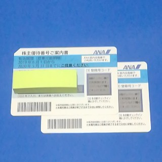 ANA(全日本空輸) - 全日空 ANA 株主優待券×2枚 2020年5月31日搭乗分まで