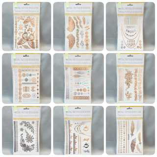 【数量限定】 セット4 メタリック タトゥーシール 10枚セット 新品