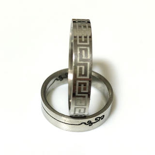 同時購入で300円ステンレス指輪雷文細身(リング(指輪))