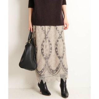IENA - IENA パネルレースロングスカート ベージュ Size40