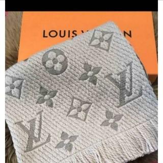LOUIS VUITTON - 新品! ルイヴィトン ロゴマニア マフラー グリペルル
