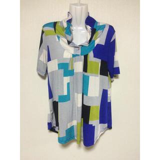 カラフルシャツ オシャレシャツ レディースシャツ 美品 (Tシャツ(半袖/袖なし))