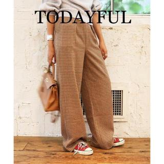 TODAYFUL - TODAYFUL Tuck check pant