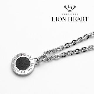 ライオンハート(LION HEART)のライオンハート ネックレス メンズ シルバー ブラック メダル トップ(ネックレス)