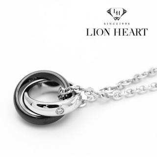 ライオンハート(LION HEART)のライオンハート ネックレス メンズ ダブルリング シルバー ブラック(ネックレス)