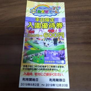 東京遊びマーレ 割引券 (遊園地/テーマパーク)