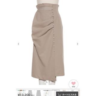 snidel - SNIDEL ドレープデザインタイトスカート
