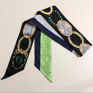 クリスチャンディオール(Christian Dior)のDior ディオール ミッツァ ツイリー スカーフ O グリーン系 宝石柄(バンダナ/スカーフ)