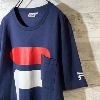 FILA - FILA フィラ ビッグシルエットTシャツ ビッグロゴ 胸ポケット
