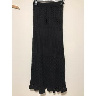 ジーユー(GU)の鍵編みニットスカート(ロングスカート)