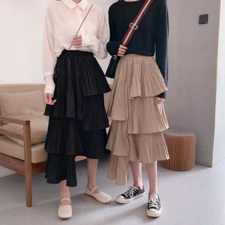 Chesty - PLEATED ASYMMETRY SKIRT.