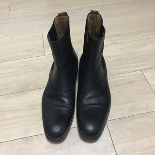 Gucci - GUCCI (グッチ) サイドゴアブーツ ブラック 品番367767
