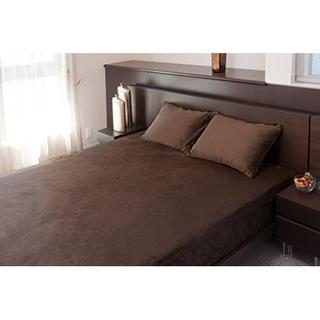 ベッドカバー ホームソフト ブラウン セミダブル カバー