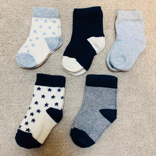 ネクスト(NEXT)のNEXT ベビーソックス ブルー/ネイビー 5足組 6〜12ヶ月 靴下(靴下/タイツ)