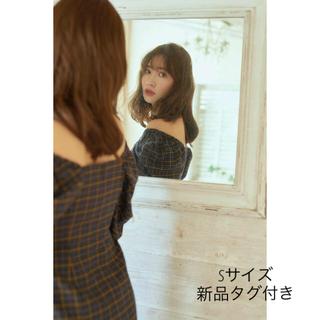 Herlipto☆off shoulder plaid dress