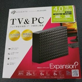 エレコム(ELECOM)の外付けHDD 4TB 外付けハードディスク 4TB Seagate製(PC周辺機器)