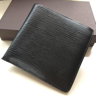 LOUIS VUITTON - 正規品ルイヴィトンエピ折財布ブラック