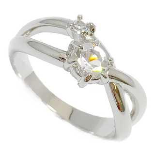 クリスタルをオフセット ピンキーリング シルバー925 クリア 指輪(リング(指輪))