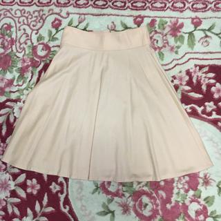 トゥモローランド(TOMORROWLAND)のT OM O R R OLANDのピンクのウールフレアスカート(ひざ丈スカート)