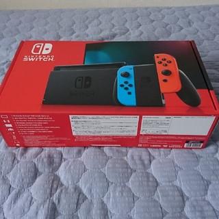 Nintendo Switch - 【新品未開封】任天堂スイッチ本体ブルー/レッド新モデル★販売店印なし★送料無料