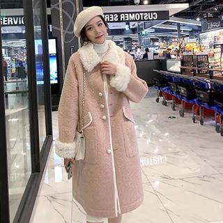 ザラ(ZARA)の新品未着用♡モケット ロングコート 冬トレンド♡韓国ファッション(ロングコート)