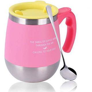 マグカップ 真空断熱タンブラー Oncezytime 保温 ふた付き ピンク
