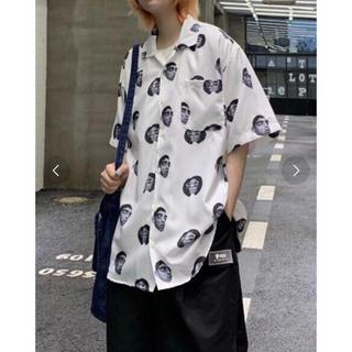 chaos カオス オーバーサイズ オープンカラーシャツ ホワイト(シャツ/ブラウス(半袖/袖なし))