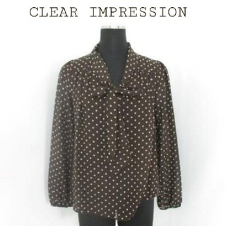 CLEAR IMPRESSION - クリアインプレッション CLEARIMPRESSION ブラウス リボン