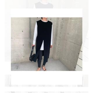 ドゥロワー(Drawer)のella☆ front slit knit gilet(その他)