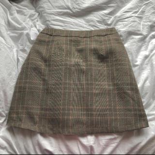 WEGO - チェック台形ミニスカート