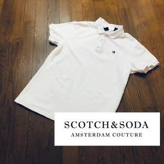 スコッチアンドソーダ(SCOTCH & SODA)のSCOTCH & SODA 白ポロシャツ Sサイズ(ポロシャツ)