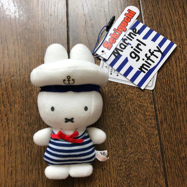 ミッフィー  マリンガール 携帯マスコット エンタメ/ホビーのおもちゃ/ぬいぐるみ(キャラクターグッズ)の商品写真