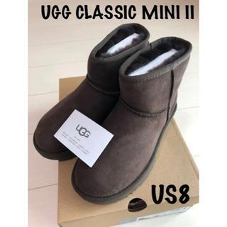 アグ(UGG)の正規品アグ ムートンブーツ クラッシックミニ US8 25cmサイズ交換可◎(ブーツ)