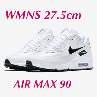 ナイキ(NIKE)のNIKE WMNS AIR MAX90 ホワイト×ブラック×シルバー27.5(スニーカー)
