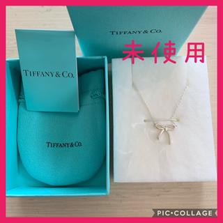 Tiffany & Co. - ティファニー リボン ボウ ネックレス ペンダント シンプル