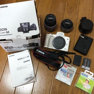 Canon - Canon Kiss M ダブルレンズキット 付属品多数