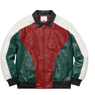 Supreme - Studded Arc Logo Leather Jacket red