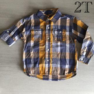 トミーヒルフィガー(TOMMY HILFIGER)のTOMMY HILFIGER   半袖&長袖2wayシャツ 2T (95cm位)(ブラウス)