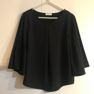 earth music & ecology - earth music&ecology♡ブラウスカットソー black 美品