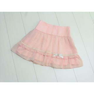 バービー(Barbie)のy136❤Barbie はしごレースシフォンフレアスカート 130A❤(スカート)
