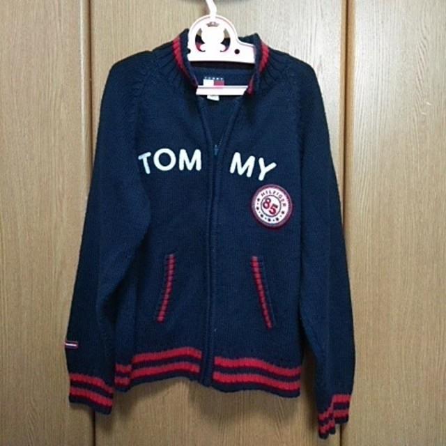 TOMMY HILFIGER(トミーヒルフィガー)のTOMMY HILFIGER 130 ニットカーディガン キッズ/ベビー/マタニティのキッズ服 男の子用(90cm~)(カーディガン)の商品写真