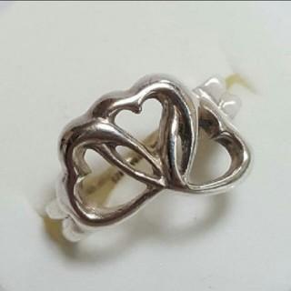 ティファニー(Tiffany & Co.)のTIFFANY  シルバー925  トリプル ❤オープンハート(リング(指輪))