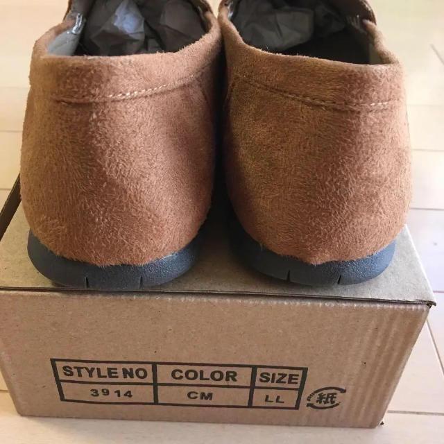 新品 スエード モカシン ローファー 24 レディースの靴/シューズ(スリッポン/モカシン)の商品写真