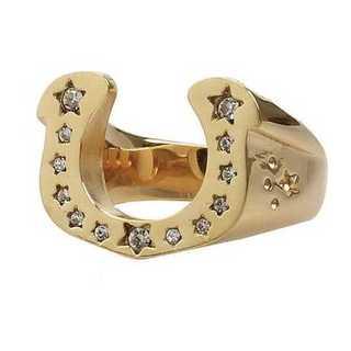 メンズ 馬の蹄 ゴールド デザインリング 指輪 リング 23号 スター 三代目
