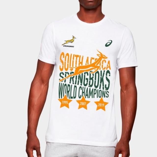 asics(アシックス)のラグビーワールドカップ 南アフリカ優勝記念Tシャツ スポーツ/アウトドアのスポーツ/アウトドア その他(ラグビー)の商品写真