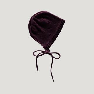 ボンポワン(Bonpoint)の【新品未使用】JAMIE KAY ボンネット 帽子 Mulberry(帽子)