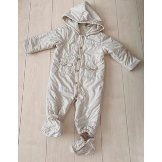 コムサ アウター 防寒具 ベビー 乳児 ジャンプスーツ カバーオール 裏起毛