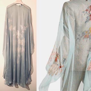 DRIES VAN NOTEN - DRIES VAN NOTEN silk 100%caftan dress