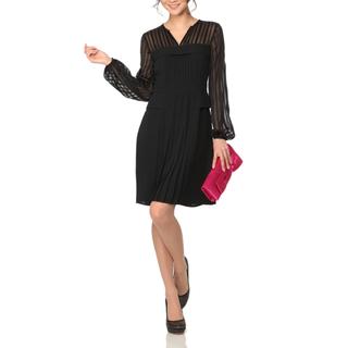 ビーシービージーマックスアズリア(BCBGMAXAZRIA)のBCBG 長袖ブラックドレス(ひざ丈ワンピース)