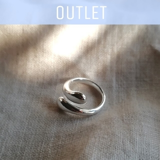 moussy - 【※ワケあり※】silver drop ring * 1点限り